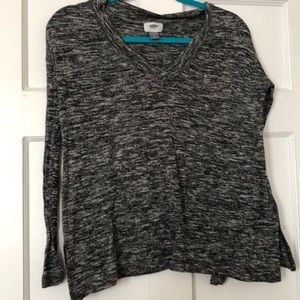 Old navy heathered blackV-Neck sweater